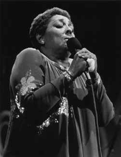 Carmen McRae at the Monterey Jazz Festival in 1982