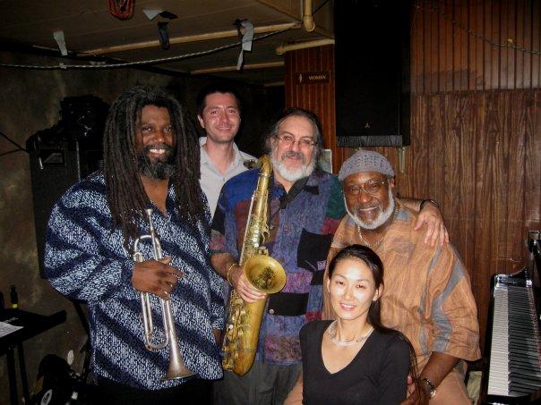 Jeff Lofton, Chris Jones, Alex Coke, Masumi Jones and James Polk (from Left to Right) at the Elephant Room (Austin)