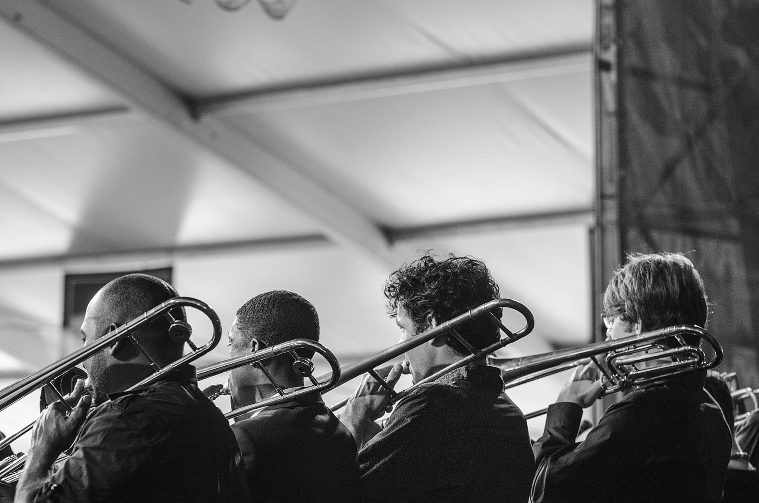 The Jesse McBride Big Band at Jazz Fest