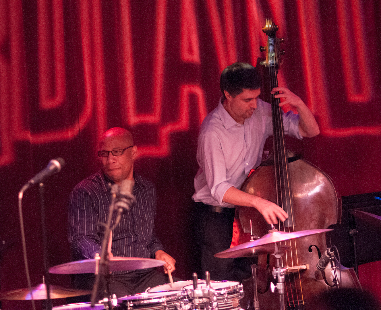Otis Brown III and Peter Slavov with Joe Lovano Us Five at Birdland