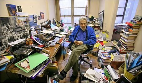 Nat Hentoof in Jazztimes Office