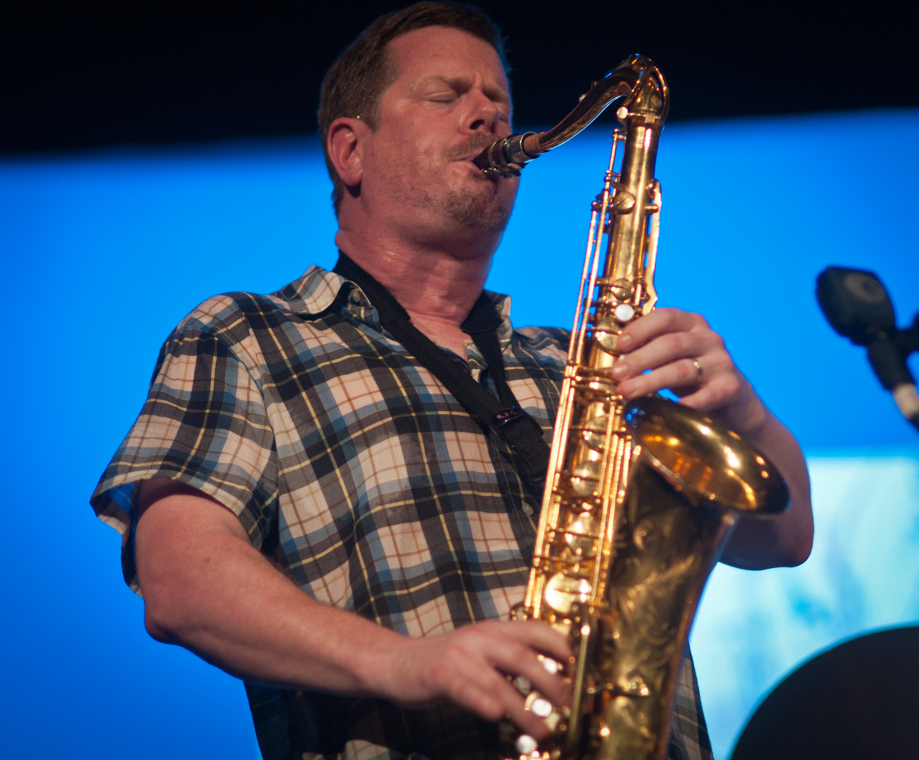 Ken Vandermark with Peter Brotzmann's Quintet at the Vision Festival 2011
