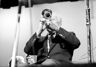 Wild Bill Davison 0429523 Lewisham Jazz Fest., Lewisham, London. 1986 Images of Jazz