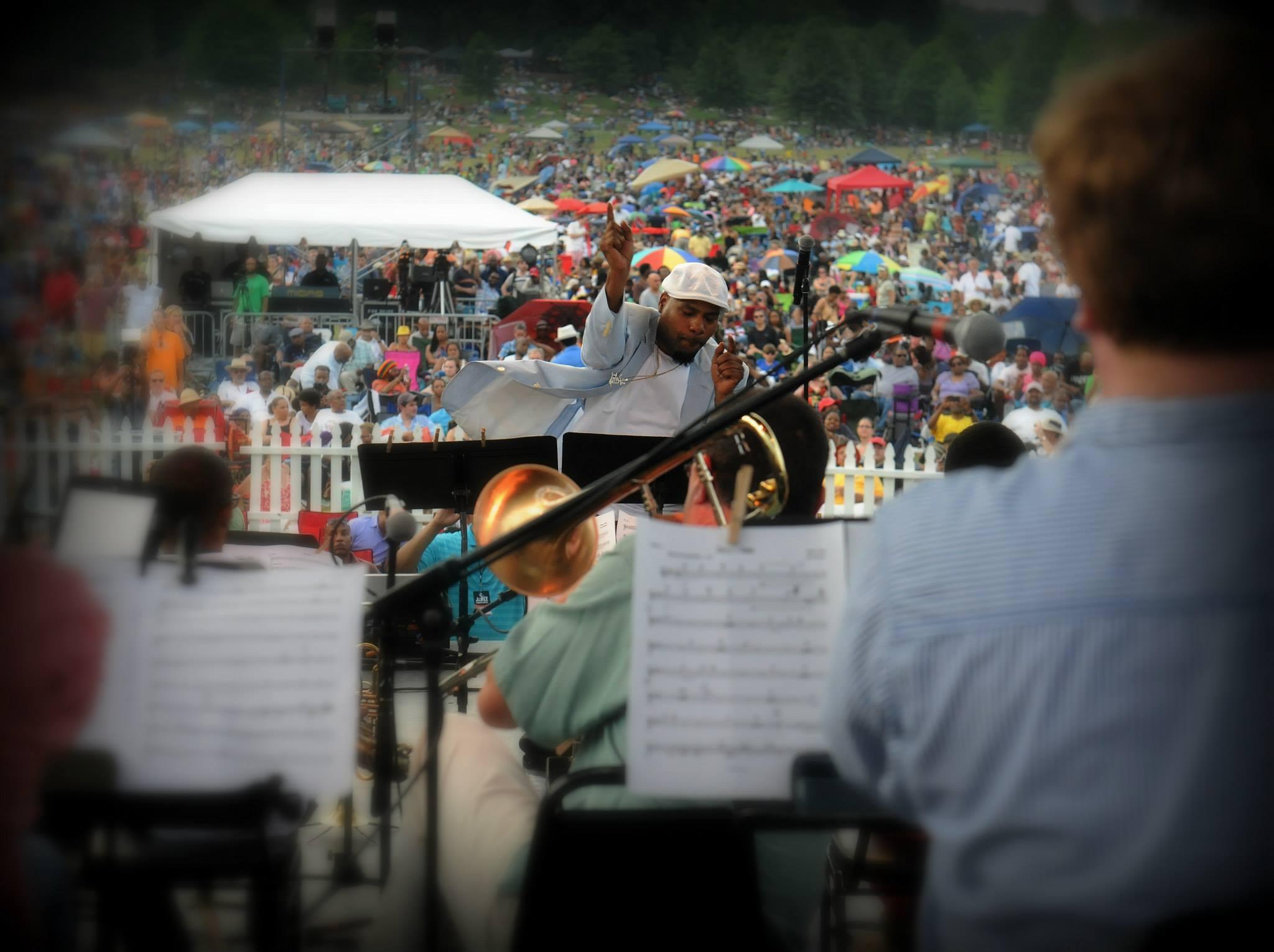 Russell Gunn Instructing the Band at the Atlanta Jazz Festivall