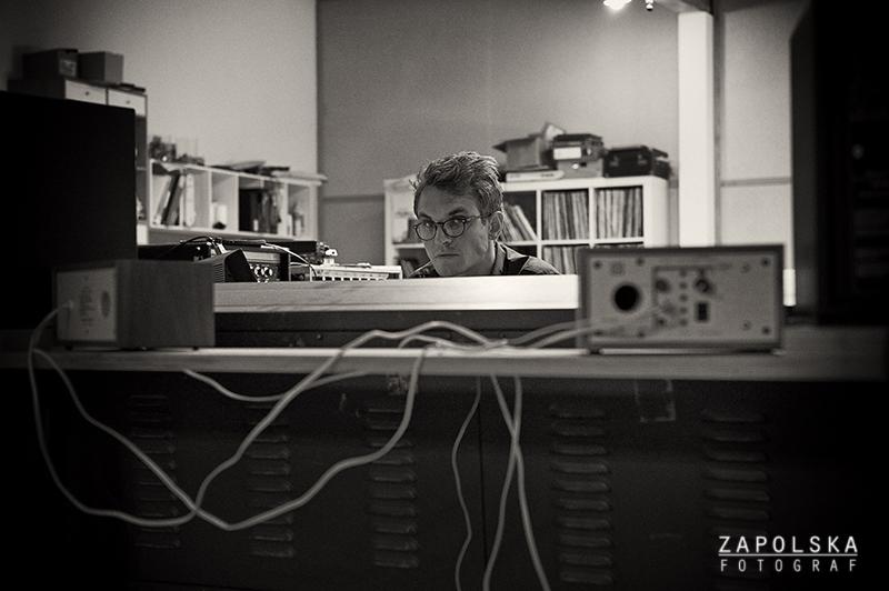 August Wanngren Recording in the Village Studio in Copenhagen