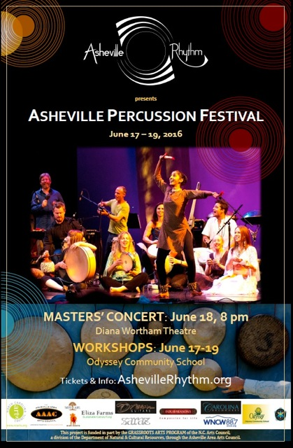 Asheville Percussion Festival To Take Place June 17-19, 2016