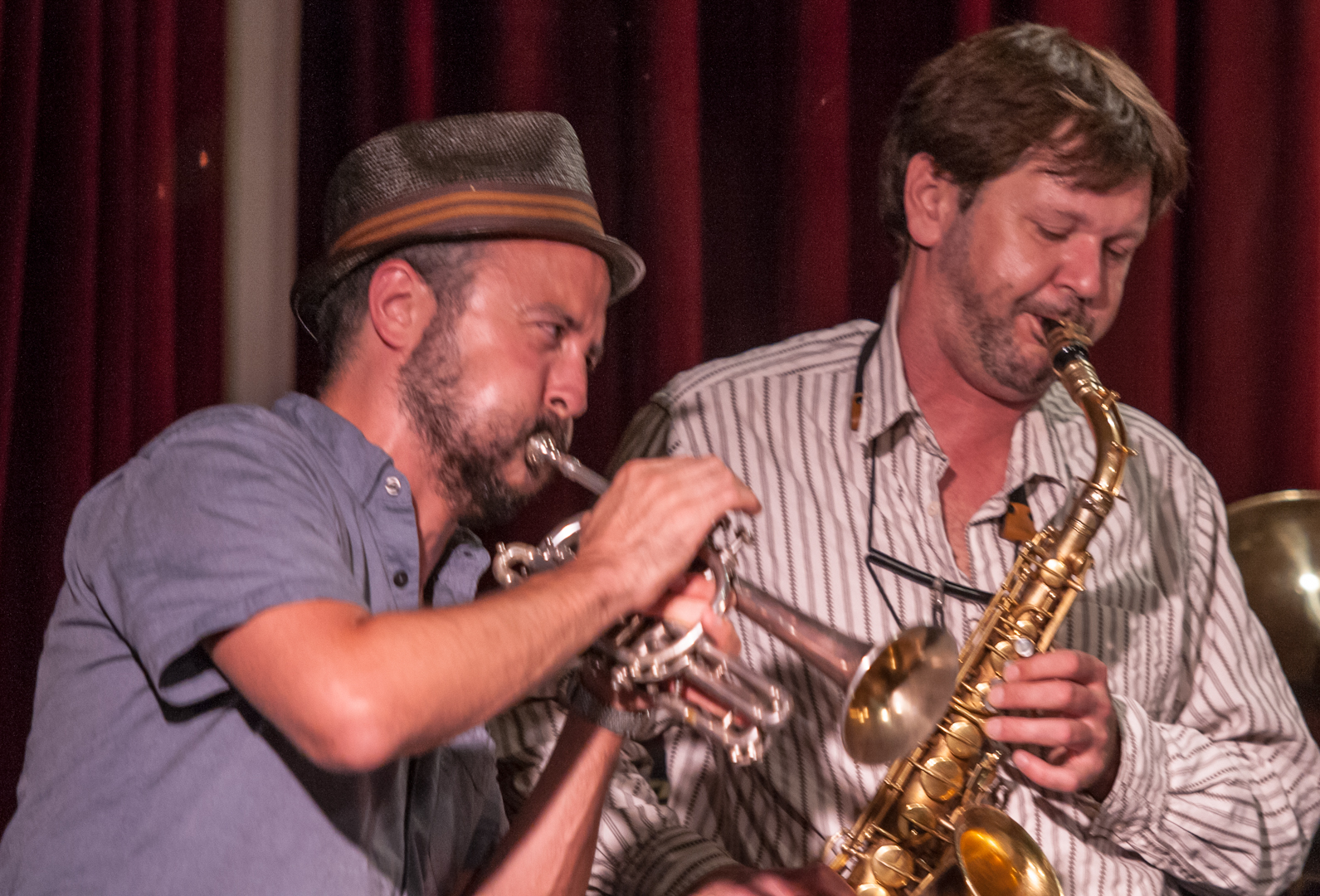 Taylor Ho Bynum and Jim Hobbs with the Taylor Ho Bynum and Jim Hobbs at the Jazz Gallery
