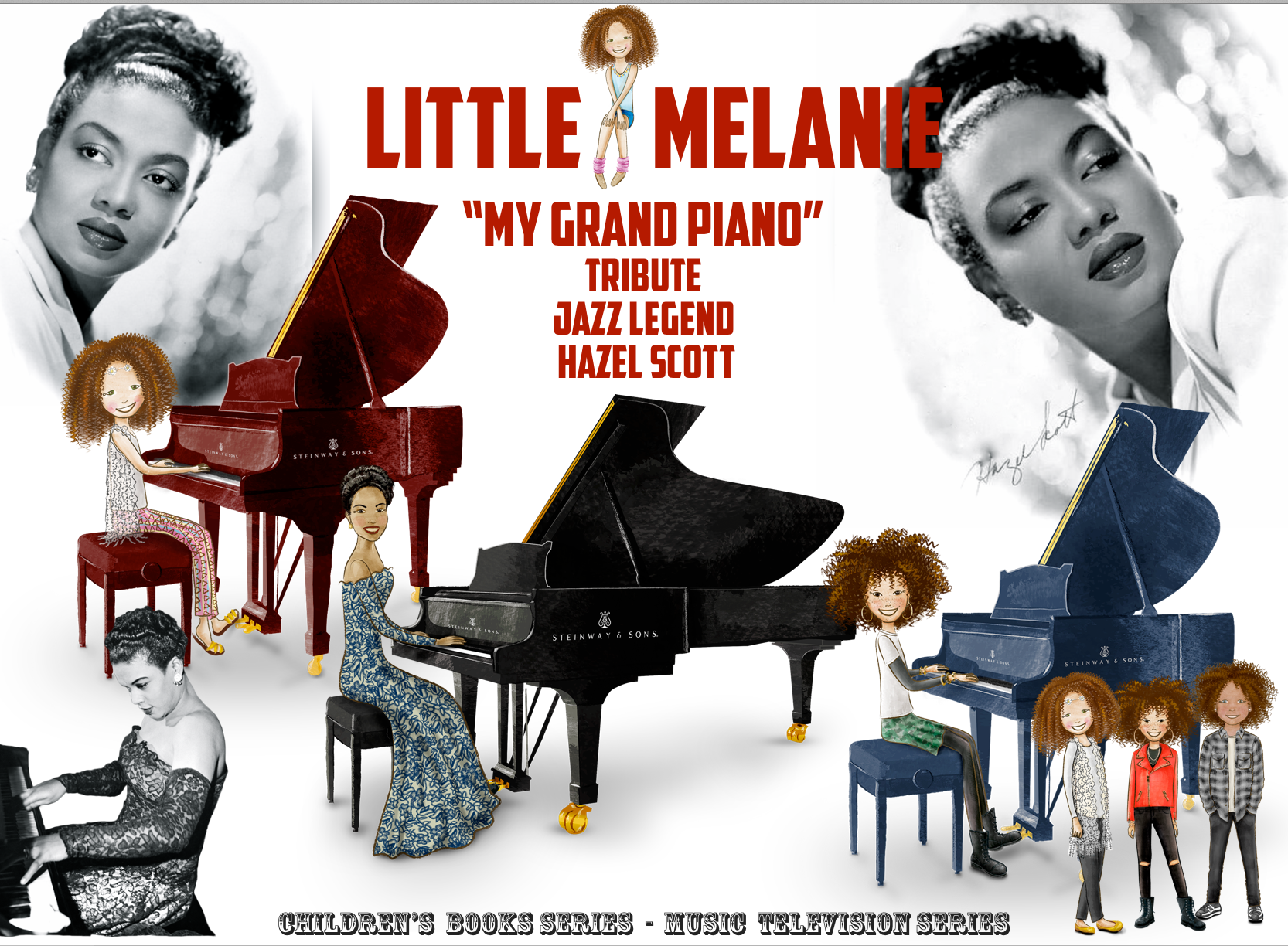 LITTLE MELANIE - MY GRAND PIANO - TRIBUTE JAZZ LEGEND HAZEL SCOTT
