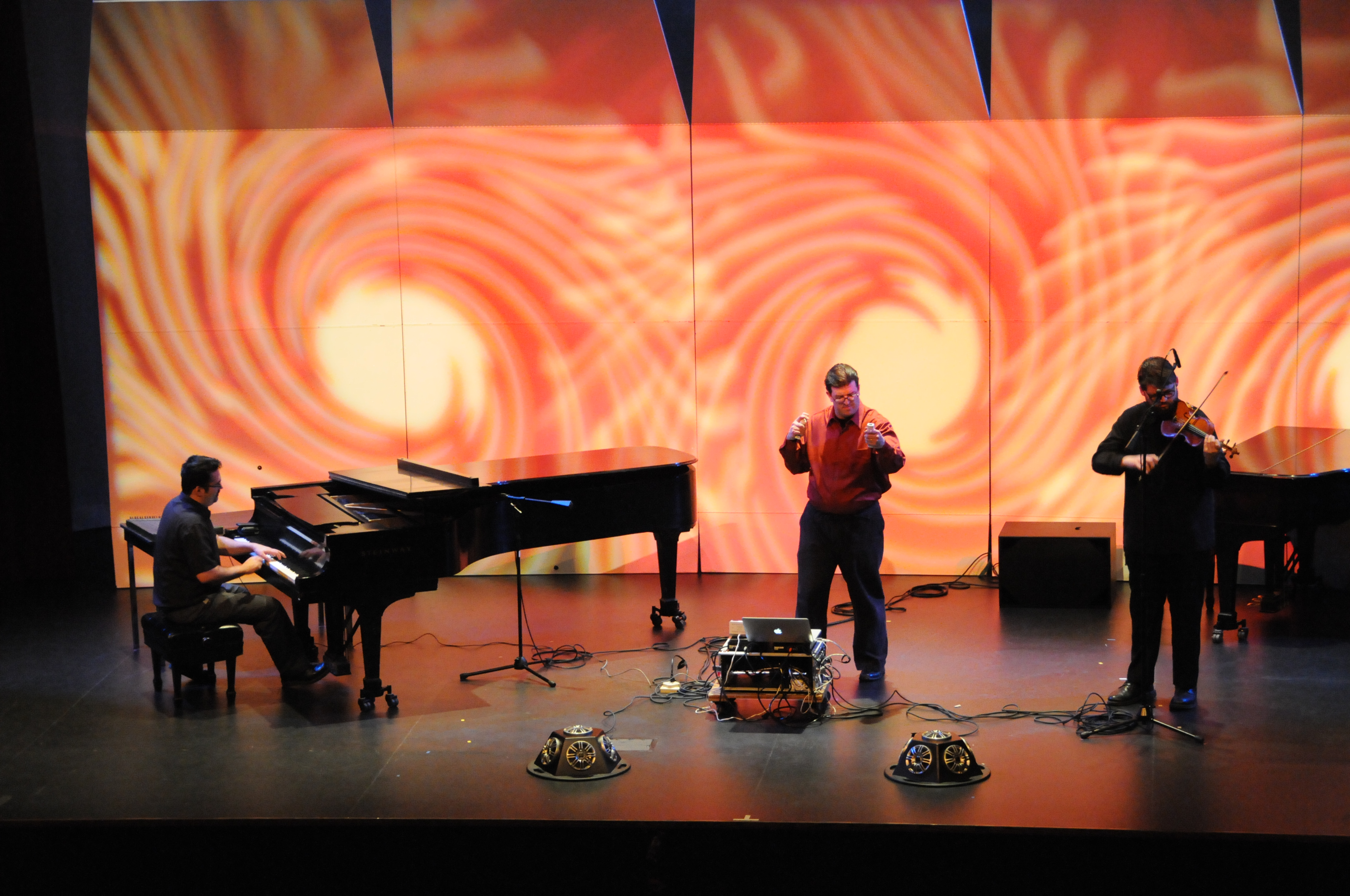 Live Sampling with Andy McWain (piano) and Eric km Clark (violin)