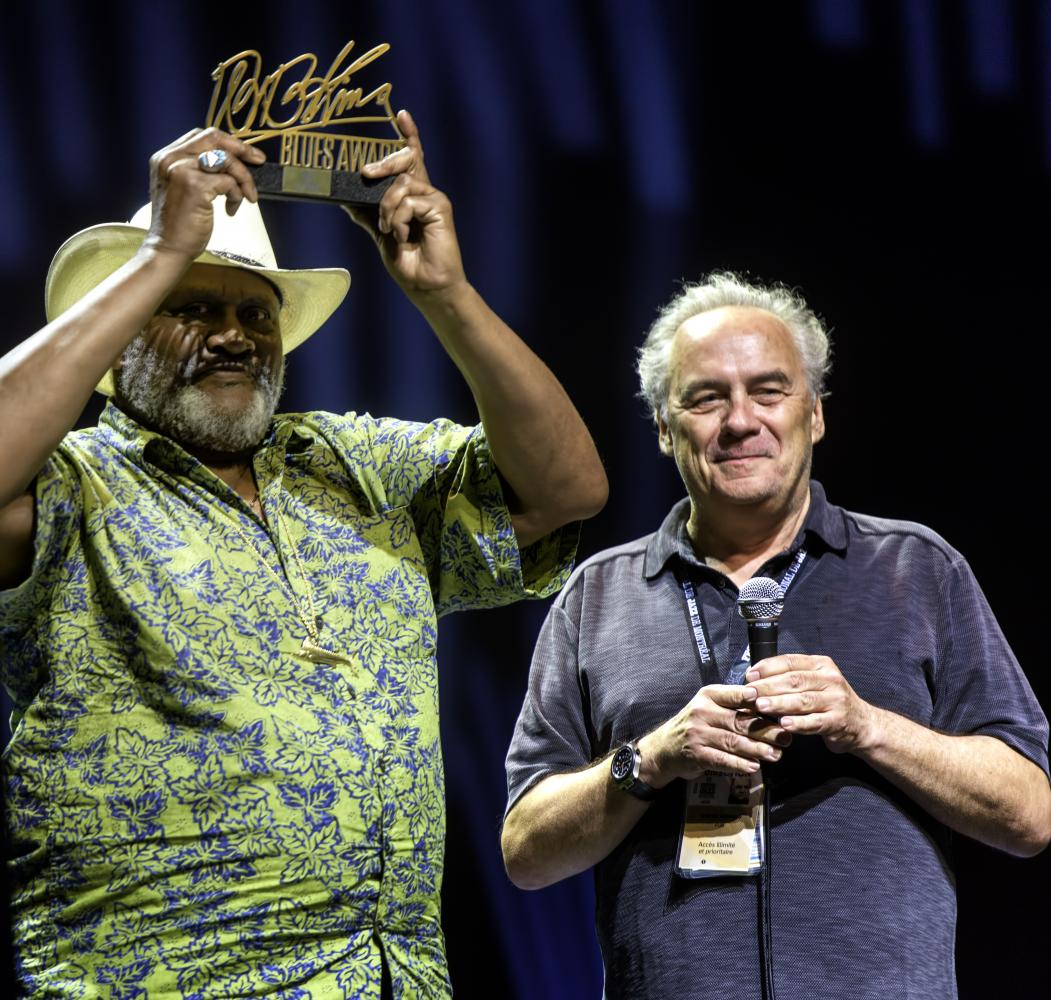 Taj Mahal and Andre Menard at the Montreal International Jazz Festival 2016