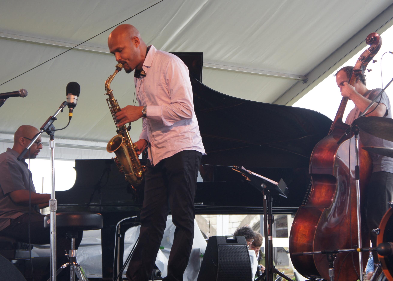 Luis Perdomo, Piano, Miguel Zenon, Alto Sax, Hans Glawischnig, Bass, Newport Jazz Festival