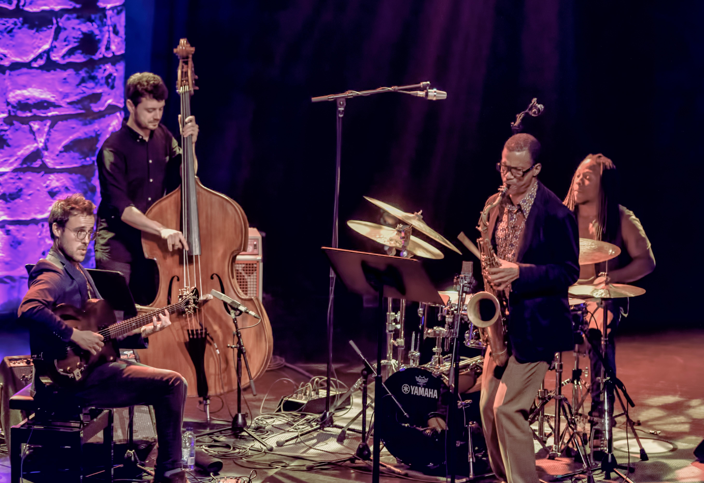 Gilad Hekselman, Rick Rosato, Jonathan Pinson And Mark Turner At The Montreal International Jazz Festival 2018