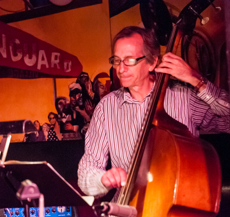 Greg Cohen with the Jenny Scheinman Quartet at the Village Vanguard