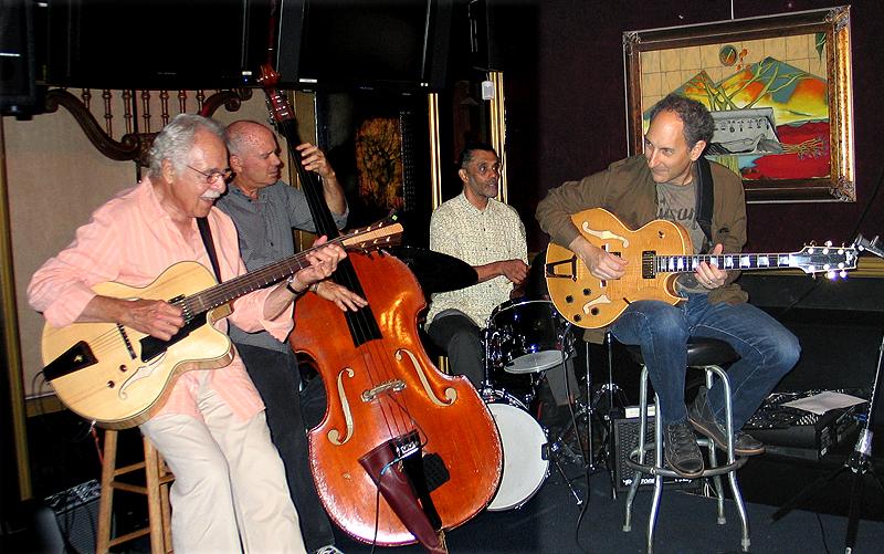 L to R: John Pisano, Ken Wild, Tim Pleasant, Dan Sawyer