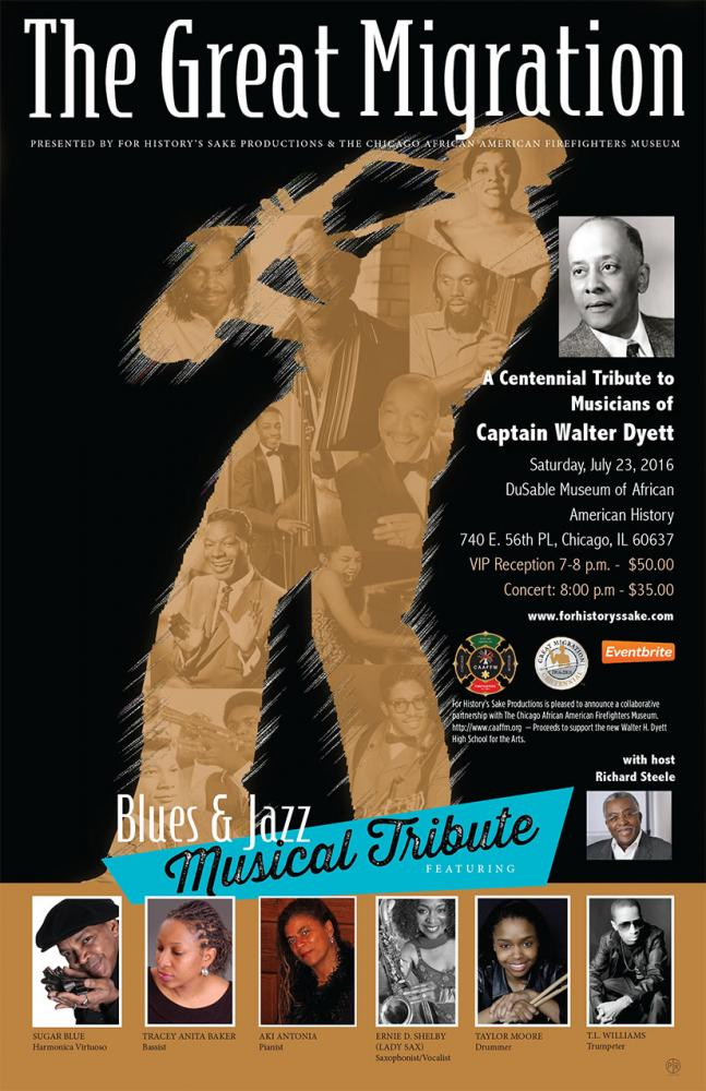The Great Migration Centennial Tribute To The Musicians Of Captain Walter H. Dyett on July 23