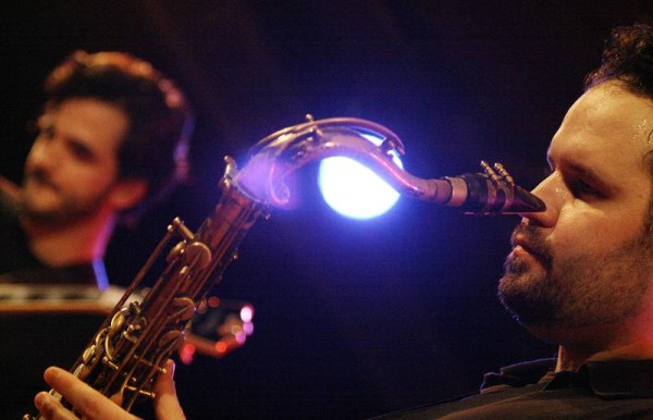 "Jason Rigby and Scott Dubois with the ""Scott Dubois Quartet"" at the Sud Des Alpes, Amr, Geneva, Switzerland, March 2006"