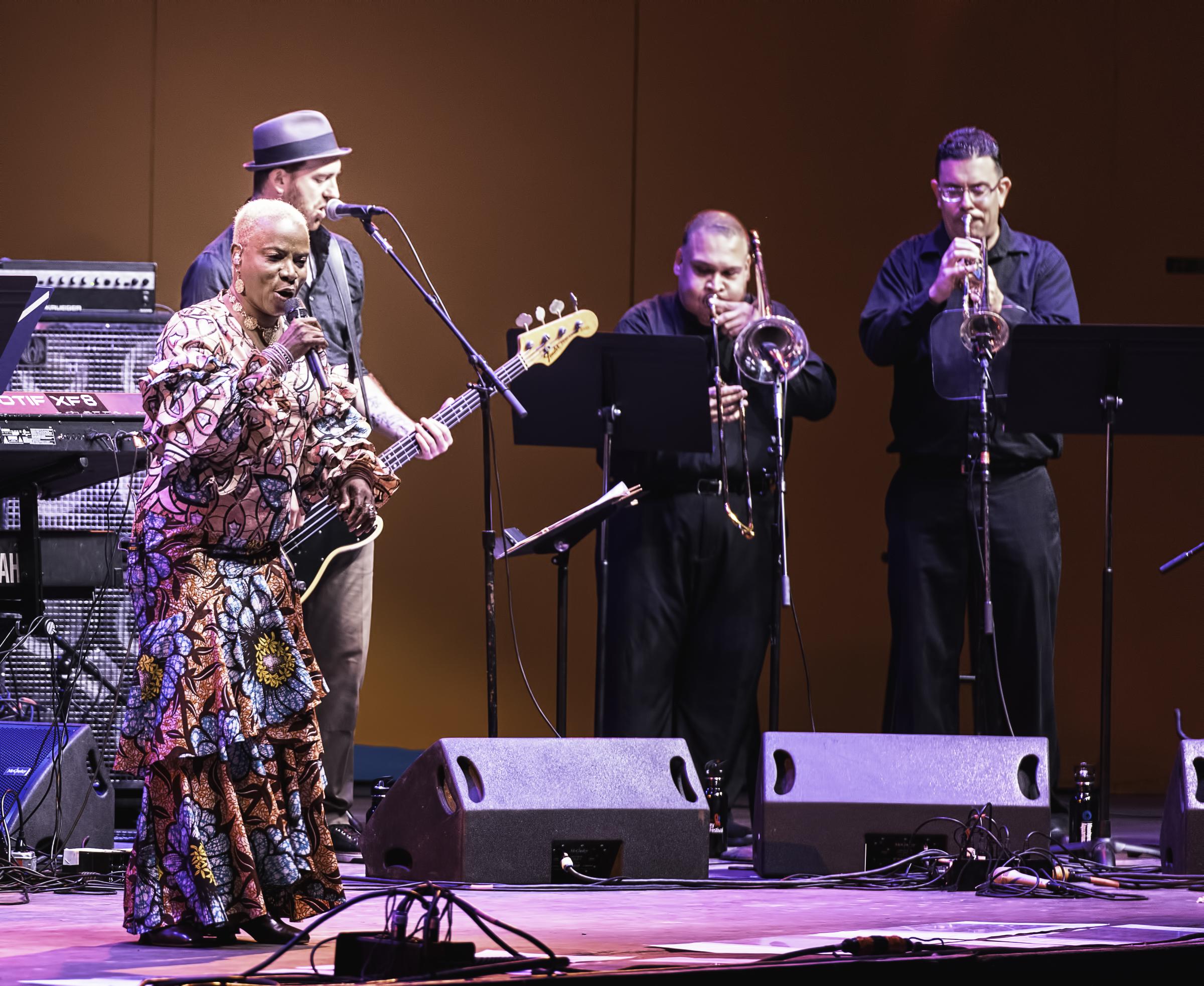 Angelique Kidjo, Ben Zwerin, Humberto Ruiz and Brian Beukelman with Angelique Kidjo's Tribute to Salsa at the Monterey Jazz Festival