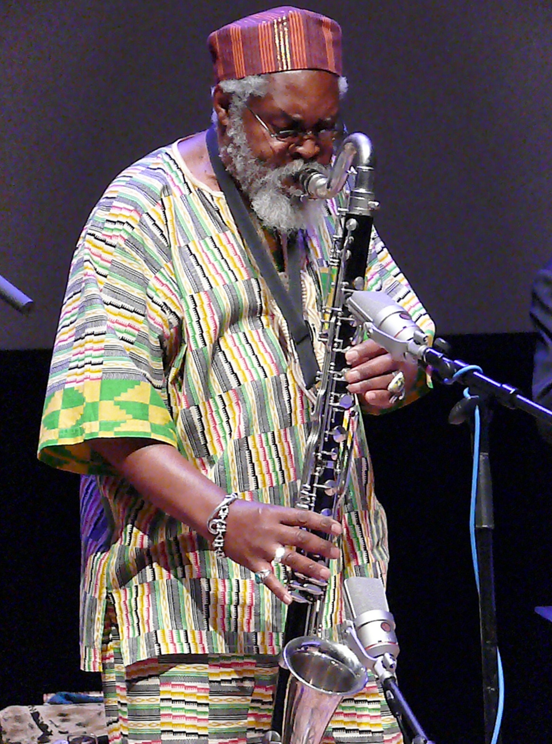 Oluyemi thomas at the vision festival, new york in june 2013