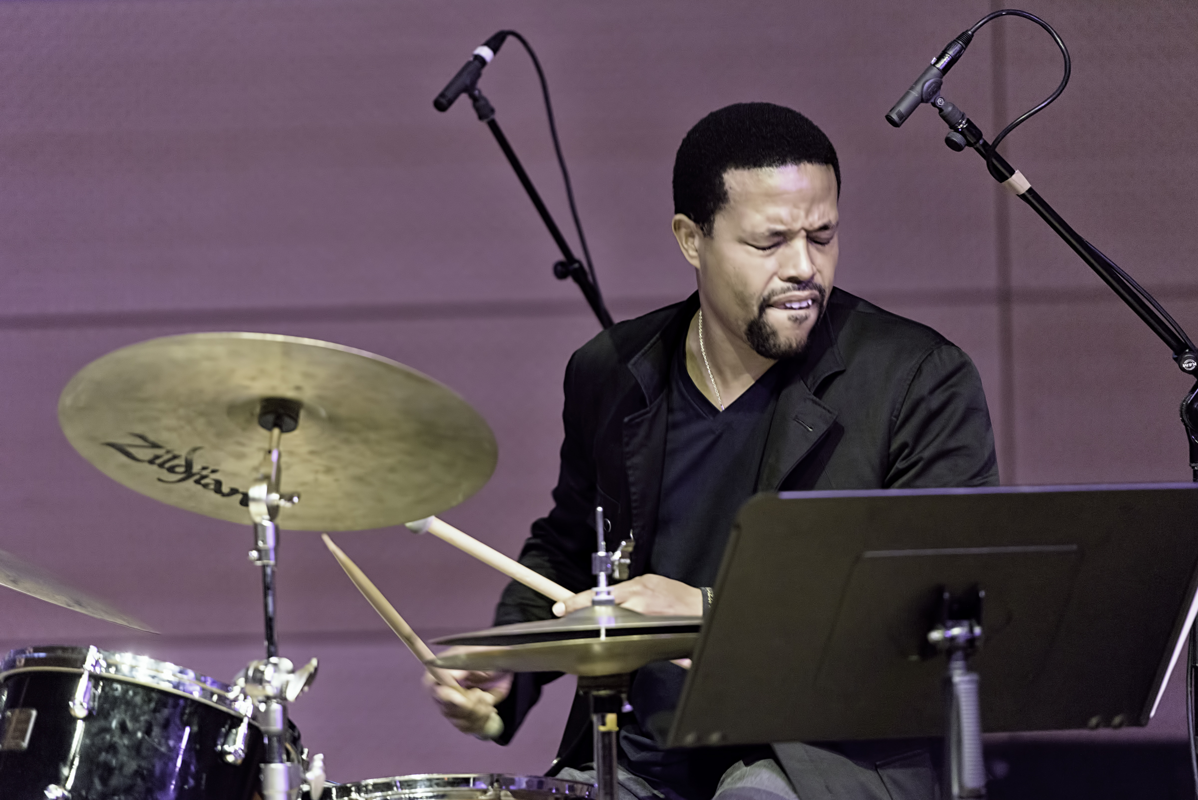 Nasheet Waits with Ralph Alessi Quartet at the NYC Winter Jazzfest 2016