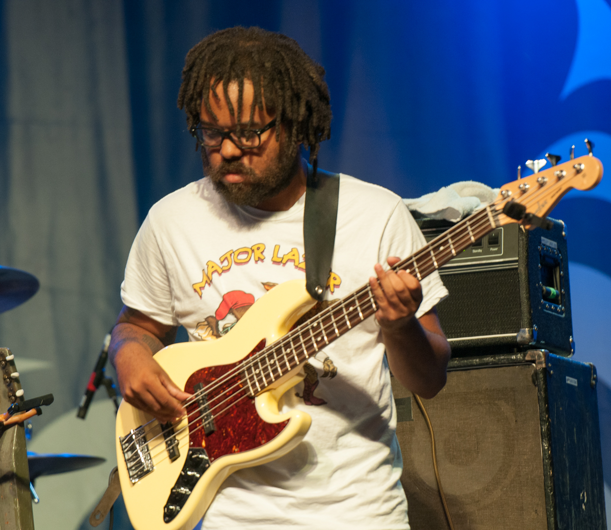 Jason Morgan with Corey Harris and the Rasta Blues Experience at the Montreal International Jazz Festival 2012
