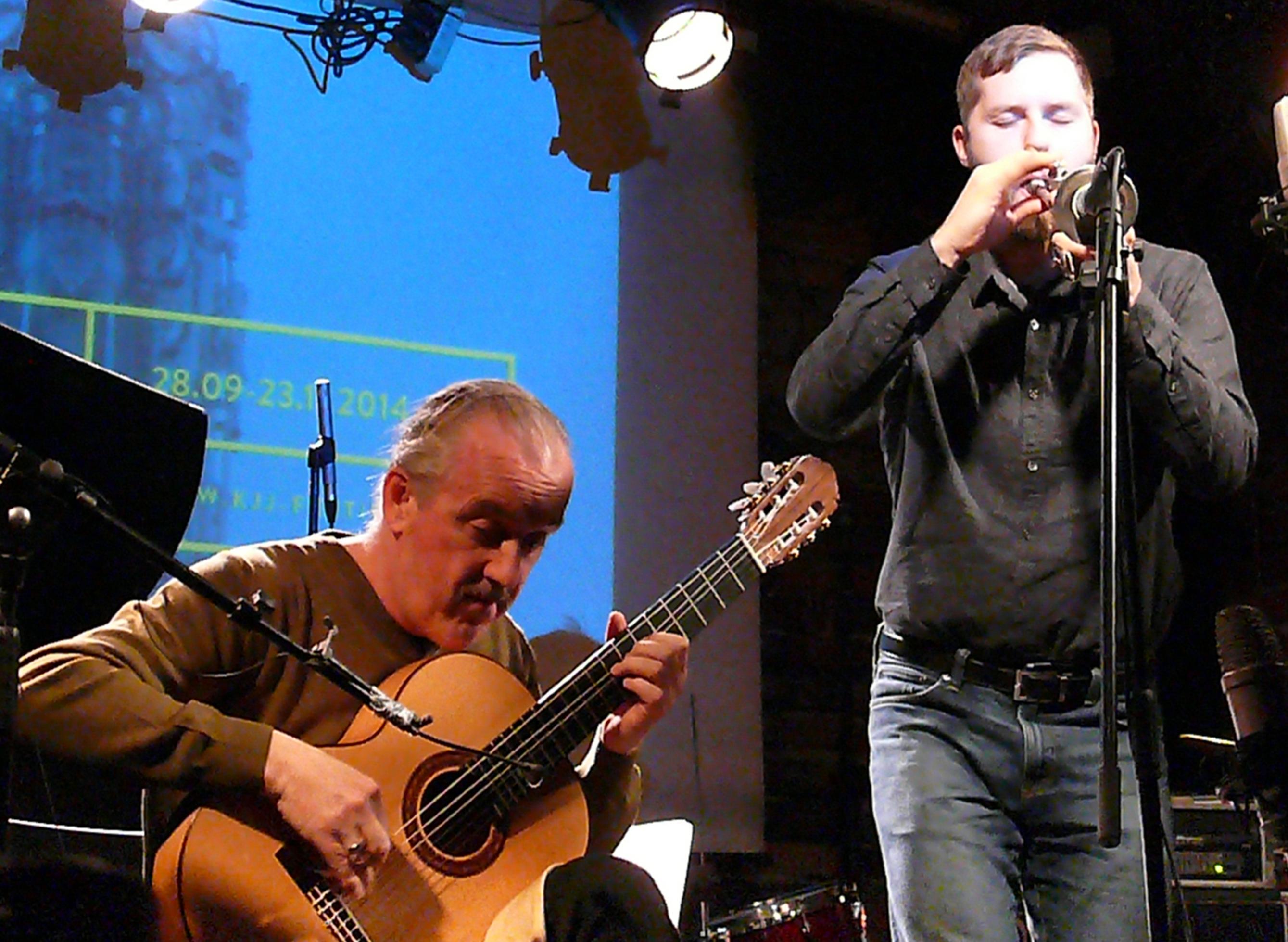 Ben Dwyer and Peter Evans at Alchemia, Krakow in November 2014