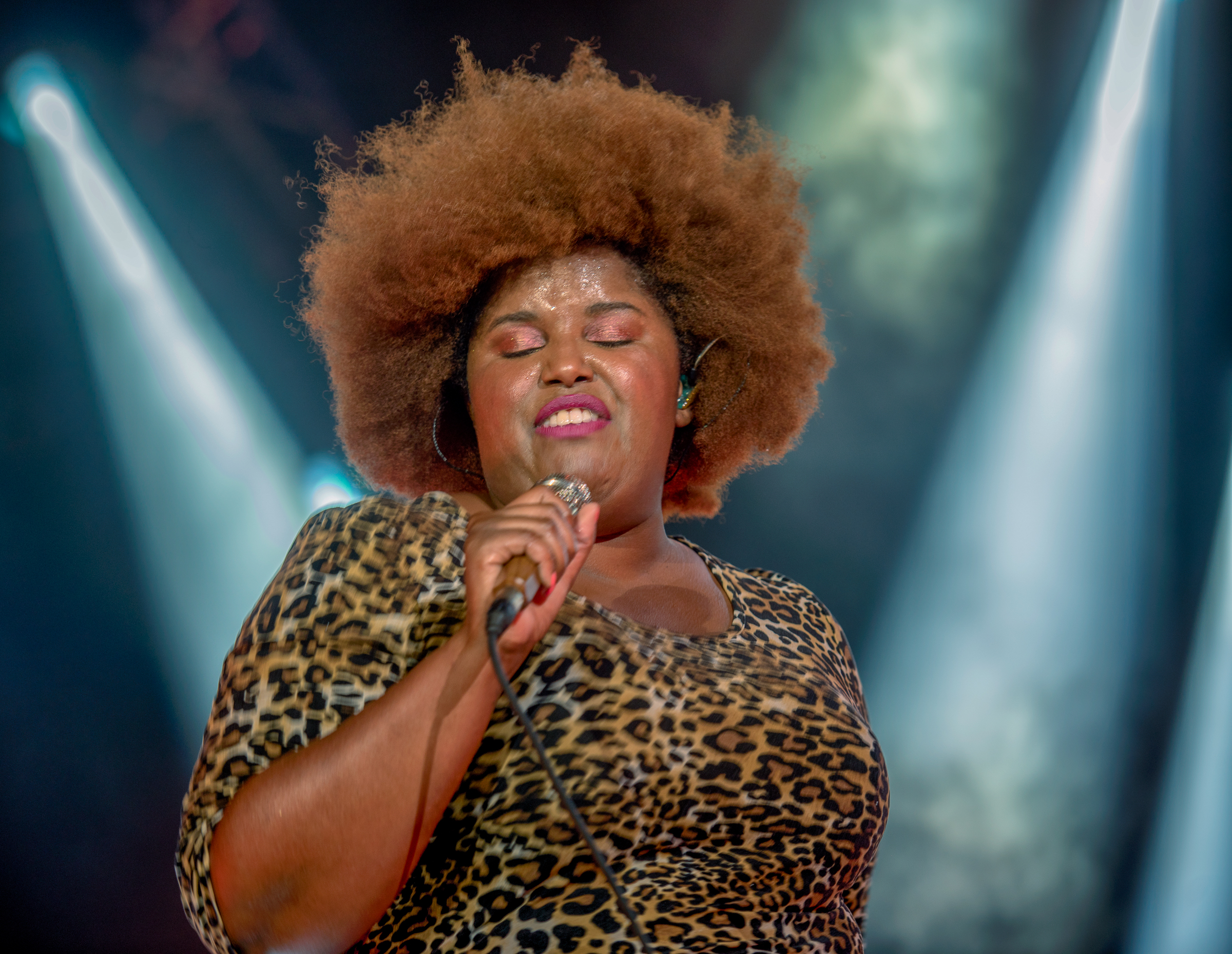 Kam Franklin With The Suffers At The Montreal International Jazz Festival 2018
