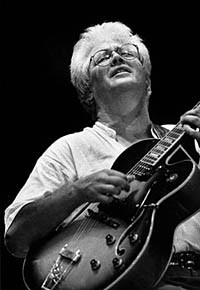 Larry Coryell and Eleventh House with Alphonse Mouzon on Drums, Randy Brecker on Trumpet and Jeff Berlin on Bass.