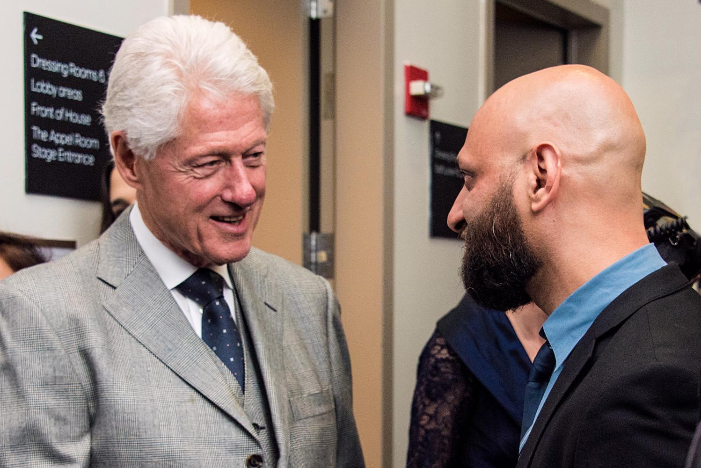 Eli Degibri meets President Clinton