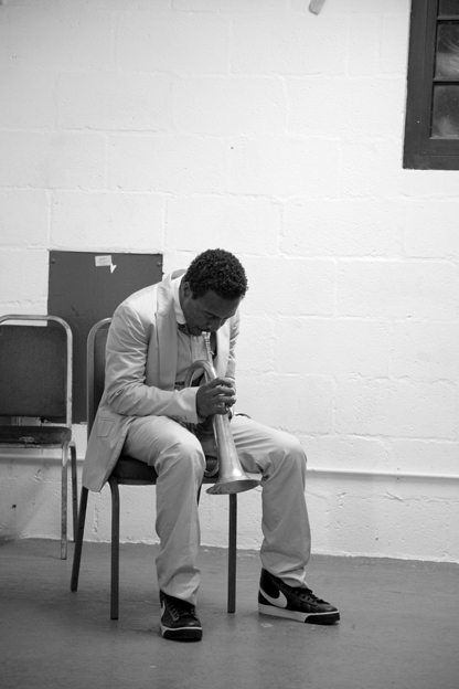 Roy Hargrove: Warm up in Brecon, 2008