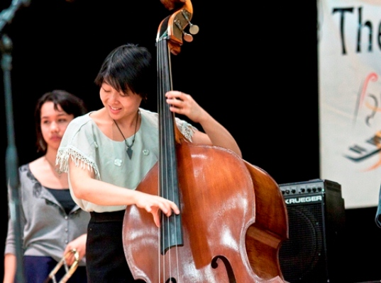 Sarah kuo is first female member of the brubeck institute jazz quintet