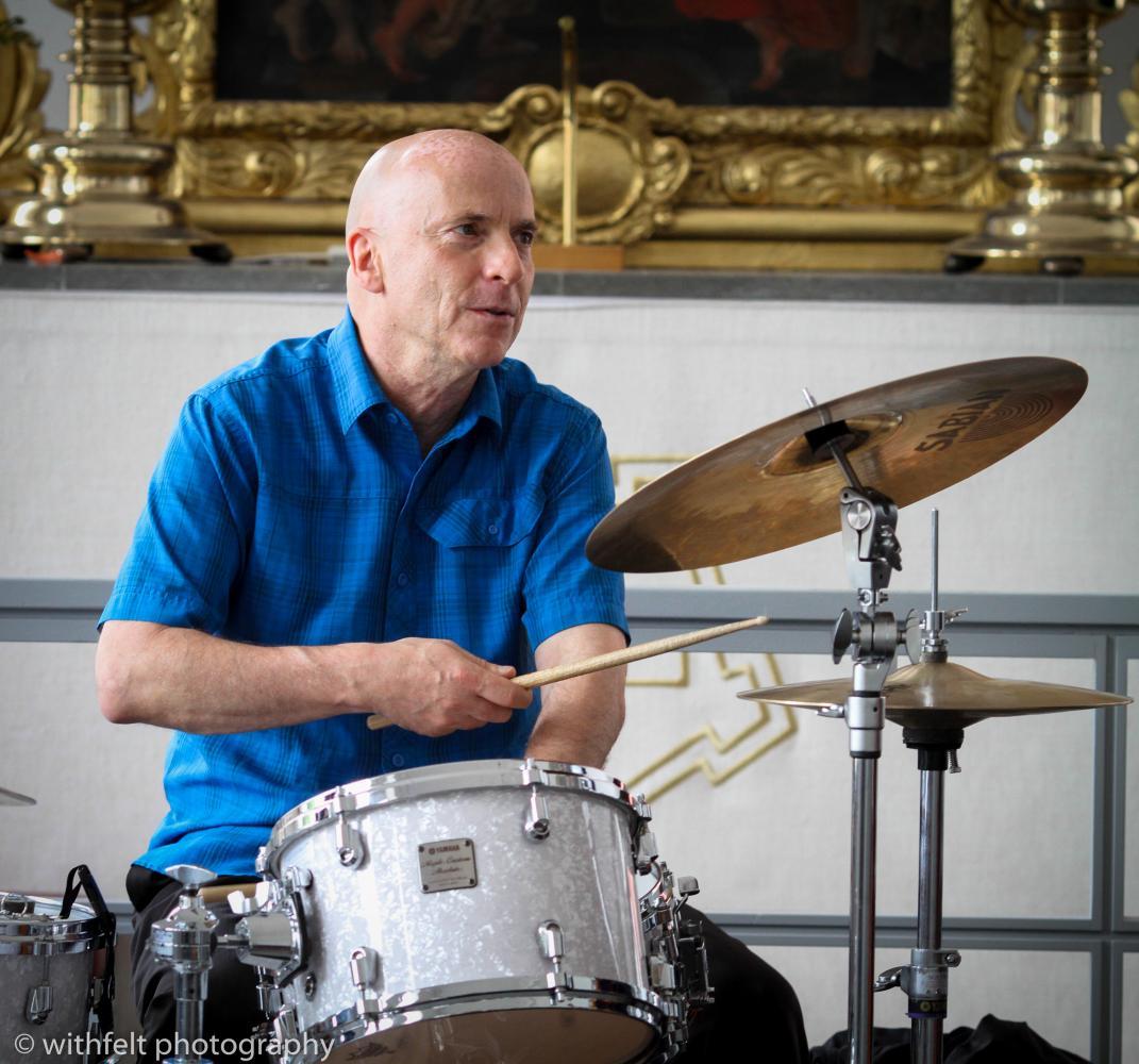 Joey Baron at Copenhagen Jazz Festival 2016 in Kastelskirken. Copenhagen , Denmark.