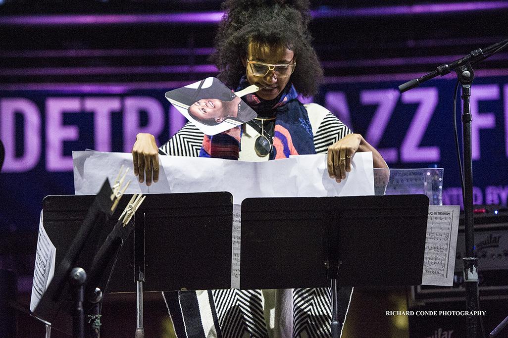 Esperanza Spalding at the 2017 Detroit Jazz Festival
