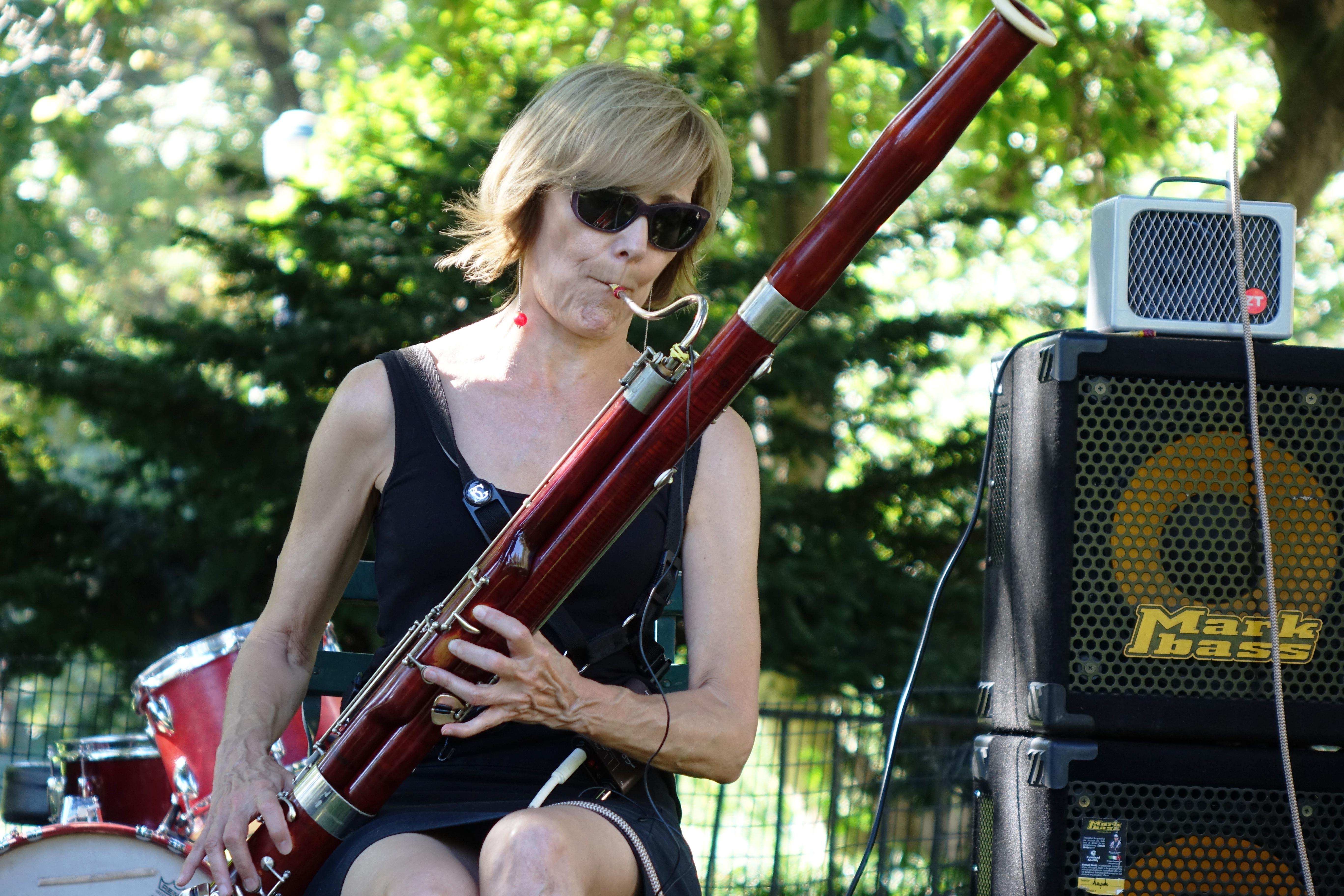 Claire de Brunner in Corlears Hook Park in September 2017