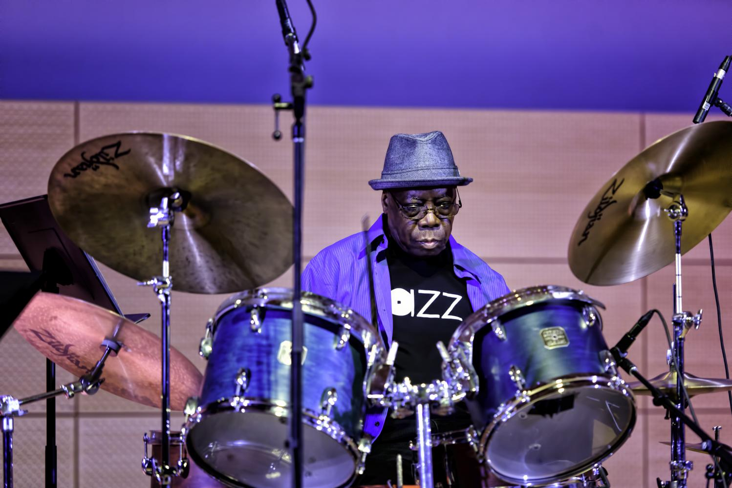 Andrew Cyrille with Bill McHenry at the NYC Winter Jazzfest 2017