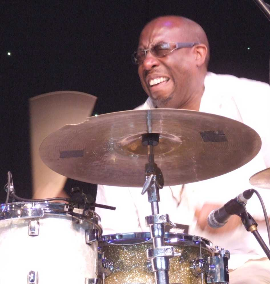 Rod Youngs with Denys Baptiste Quartet at 2009 Ealing Jazz Festival