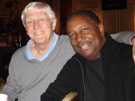 Sir Micheal Parkinson with Jamie Davis