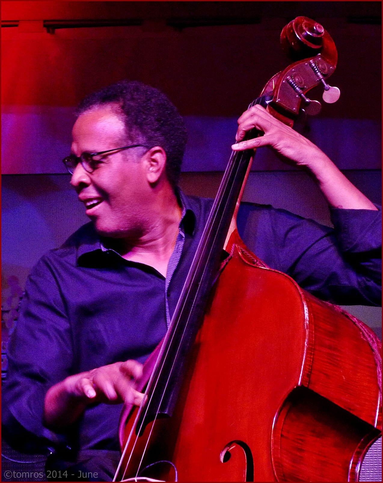 Stanley Clarke trio at Toronto Jazz Festival, June 26, 2014.