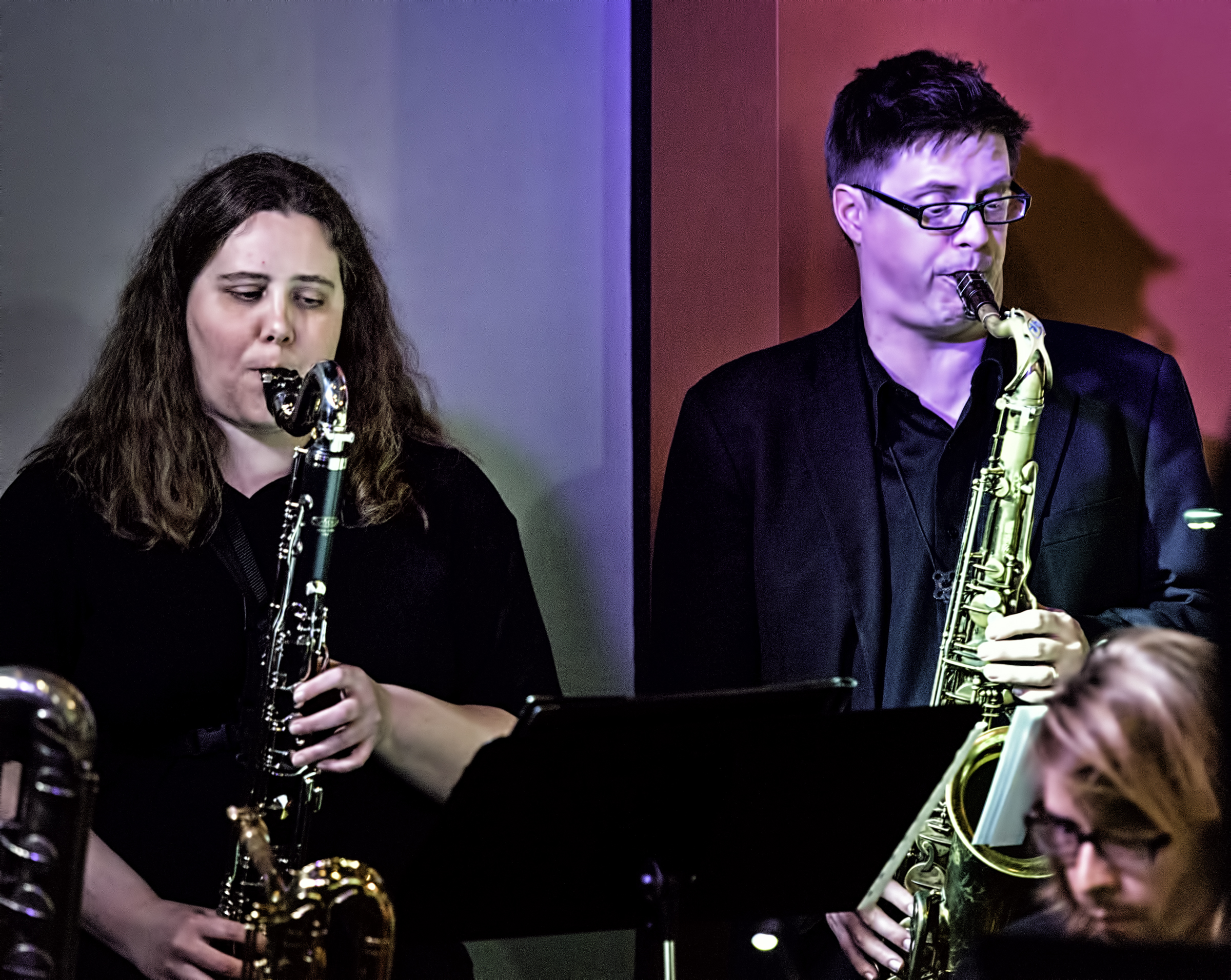 Monica Shriver And Adam Roberts With Eric Rasmussen And Scottsdale Community College Jazz Orchestra Featuring John Hollenbeck At The Nash In Phoenix