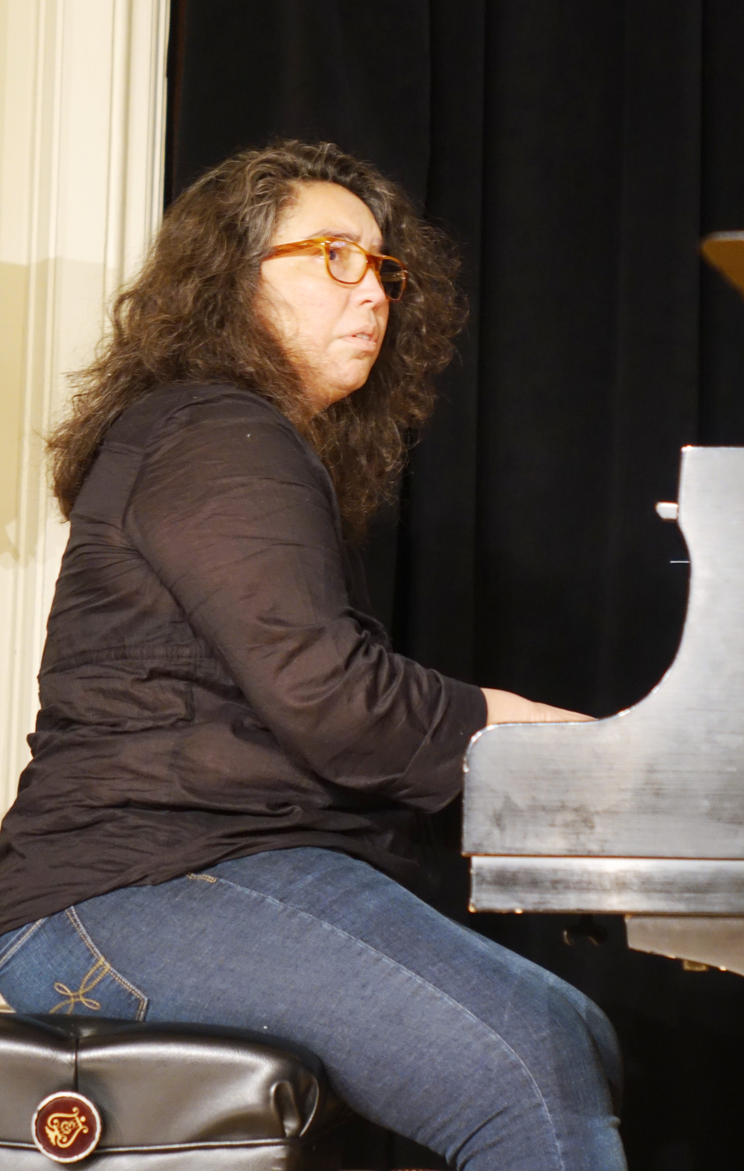 Angelica Sanchez at the Brooklyn Conservatory of Music in May 2018