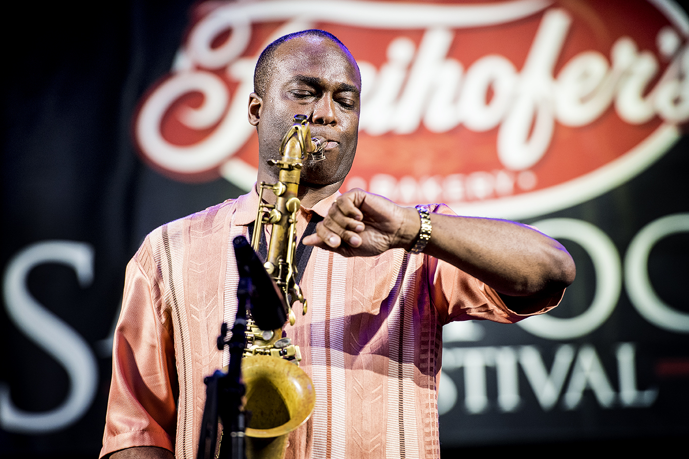 James Carter at the 2019 Saratoga Jazz Festival