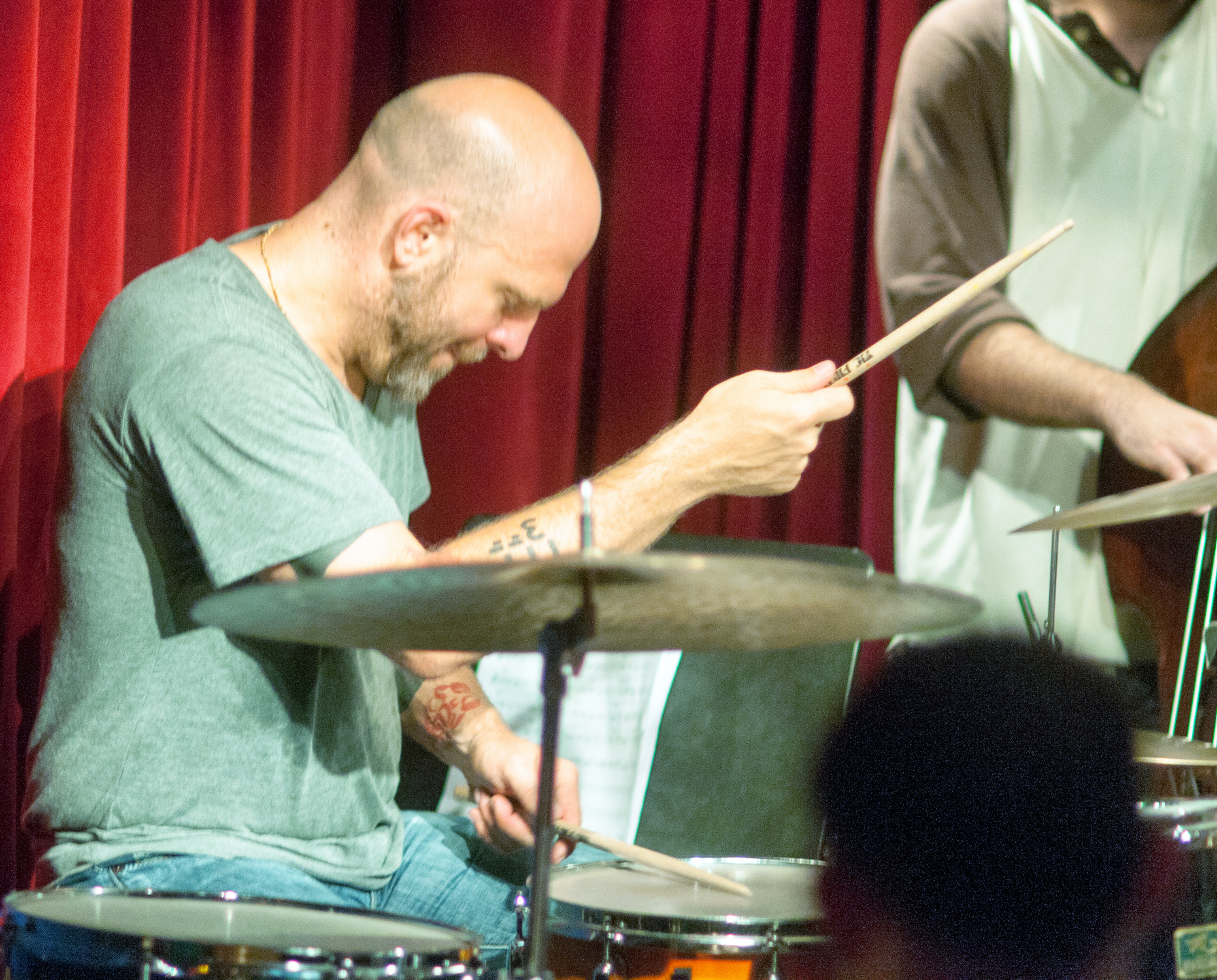 Dave king with the chris speed trio at the cornelia street cafe