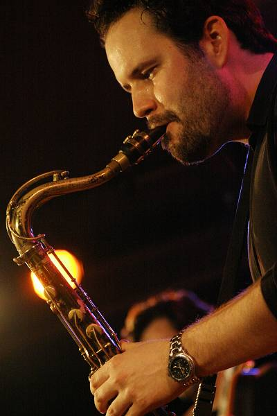 "Jason Rigby with the ""Scott Dubois Quartet"" at the Sud Des Alpes, Amr, Geneva, Switzerland, March 2006"