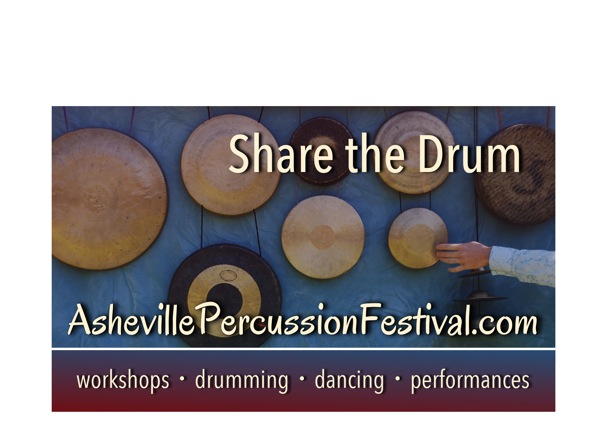 Fourth Annual Asheville Percussion Festival To Be Held June 19-21, 2015 In Asheville, NC