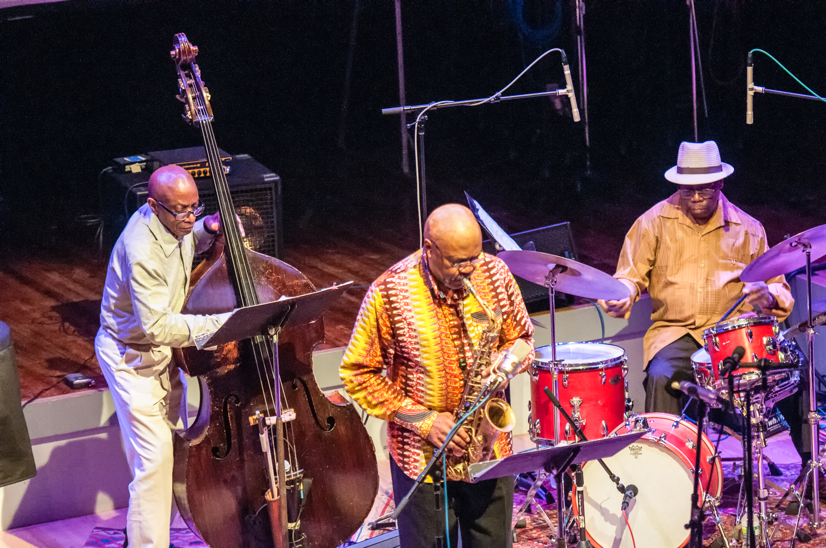 Reggie workman, oliver lake and andrew cyrille with trio 3 at the vision festival 2012