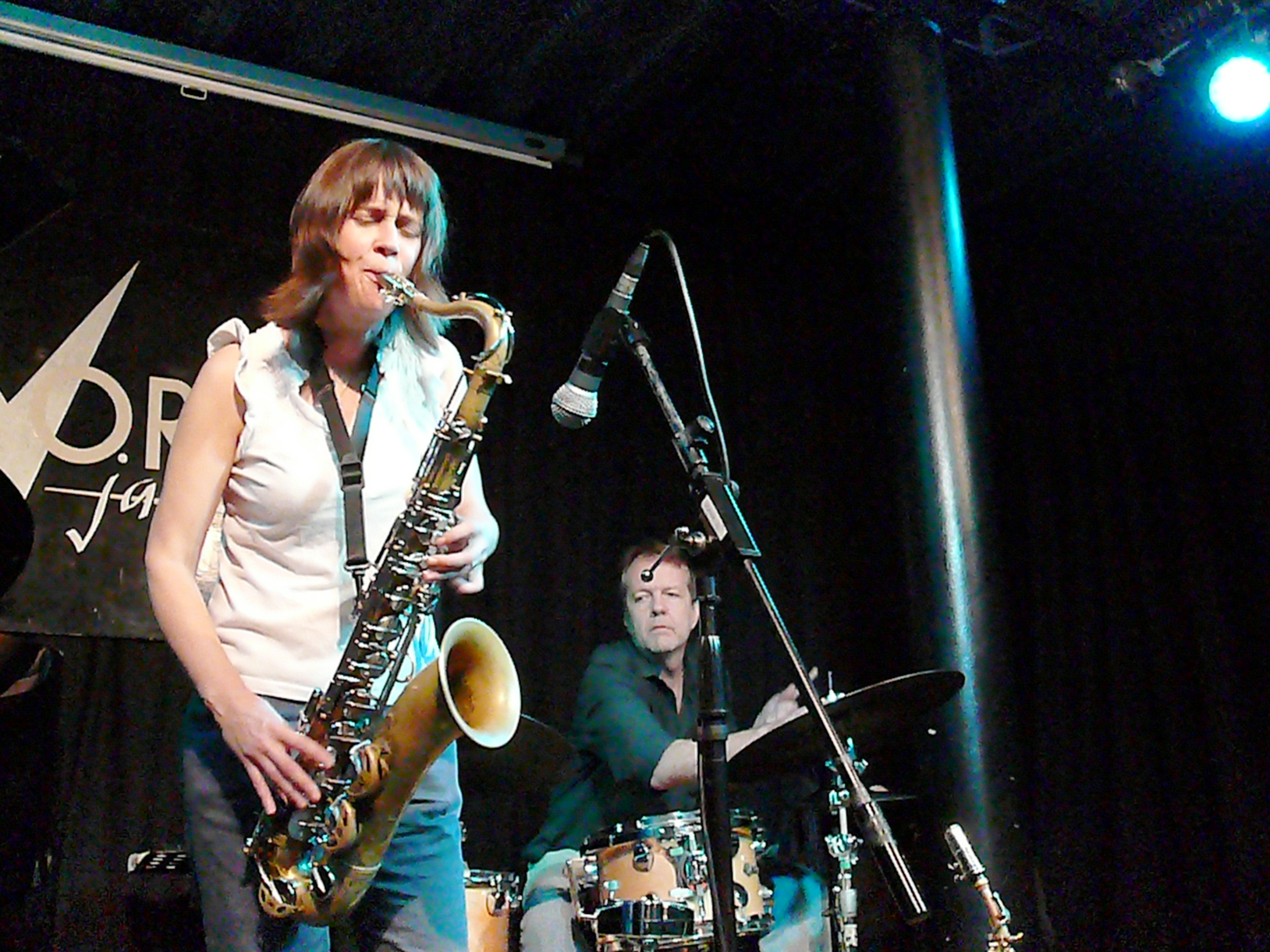 Ingrid Laubrock and Tom Rainey at the Vortex, London in November 2011