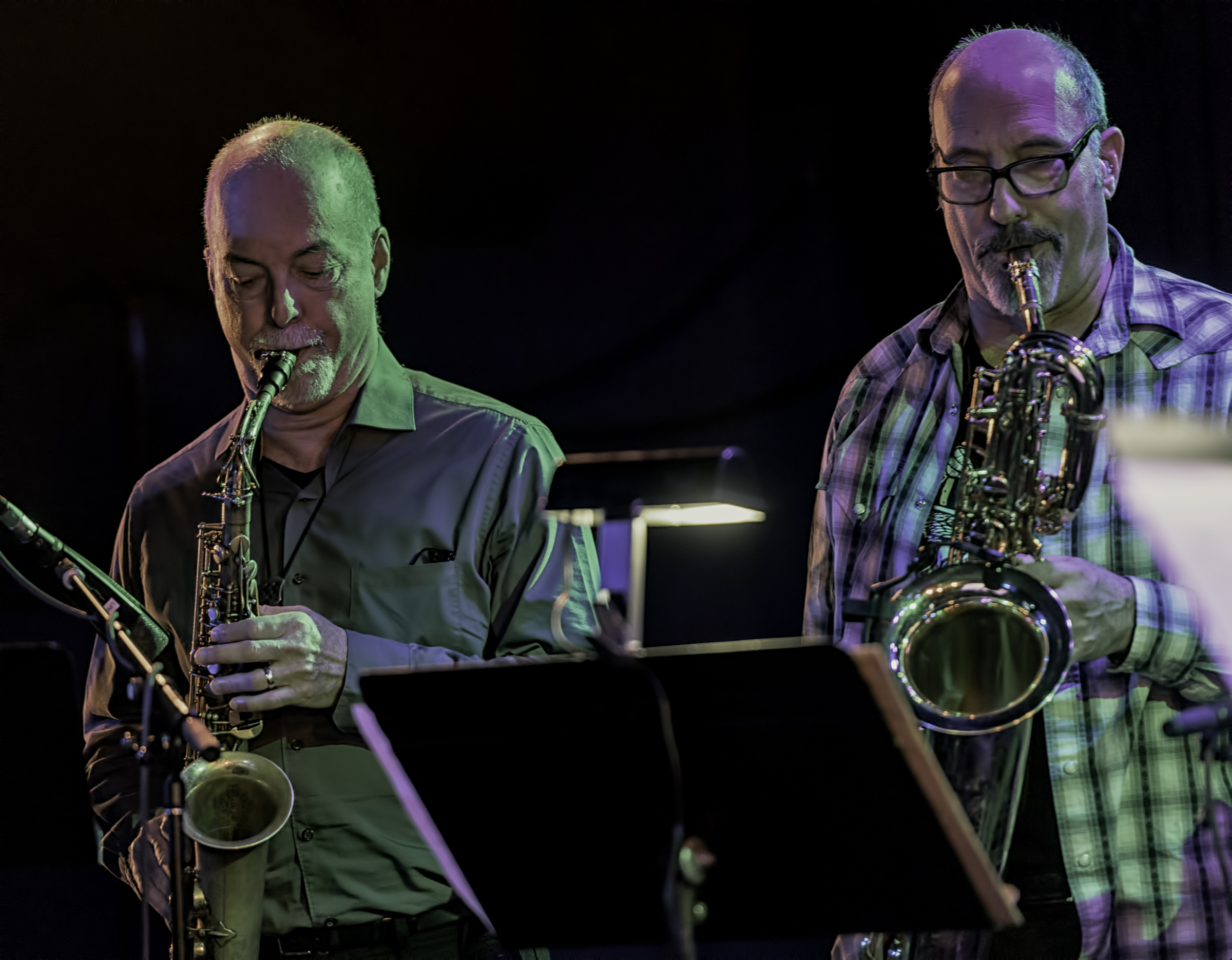 Steve Adams and Jon Raskin with Rova's Electric Ascension at the NYC Winter Jazzfest 2016