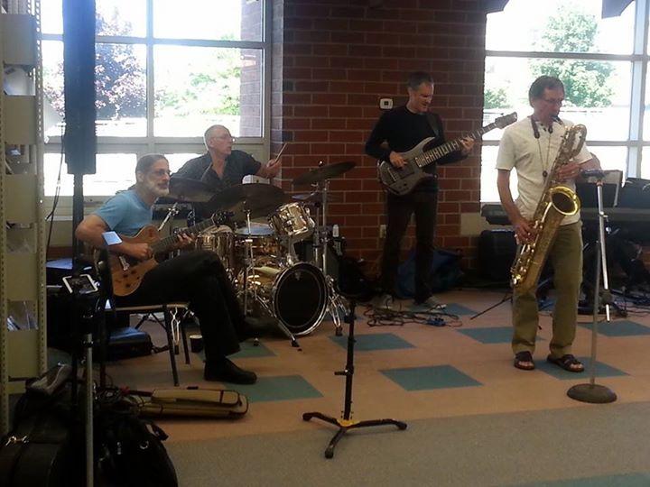 Frank Singer with Joe Dorris, Tony Grey and Bruce Johnstone