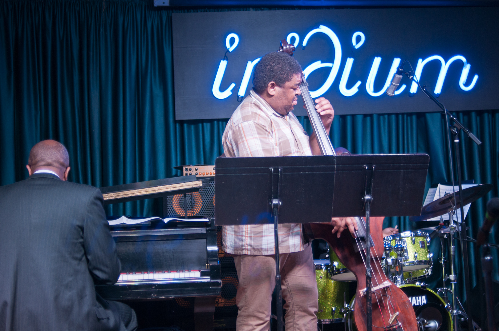 Xavier Davis and Dwayne Burno with the Wayne Shorter Tribute Big Band