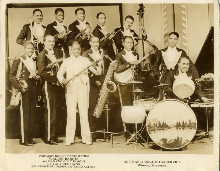 Walter Barnes and His Royal Creolians, C. 1929, Courtesy of jazzhound.net