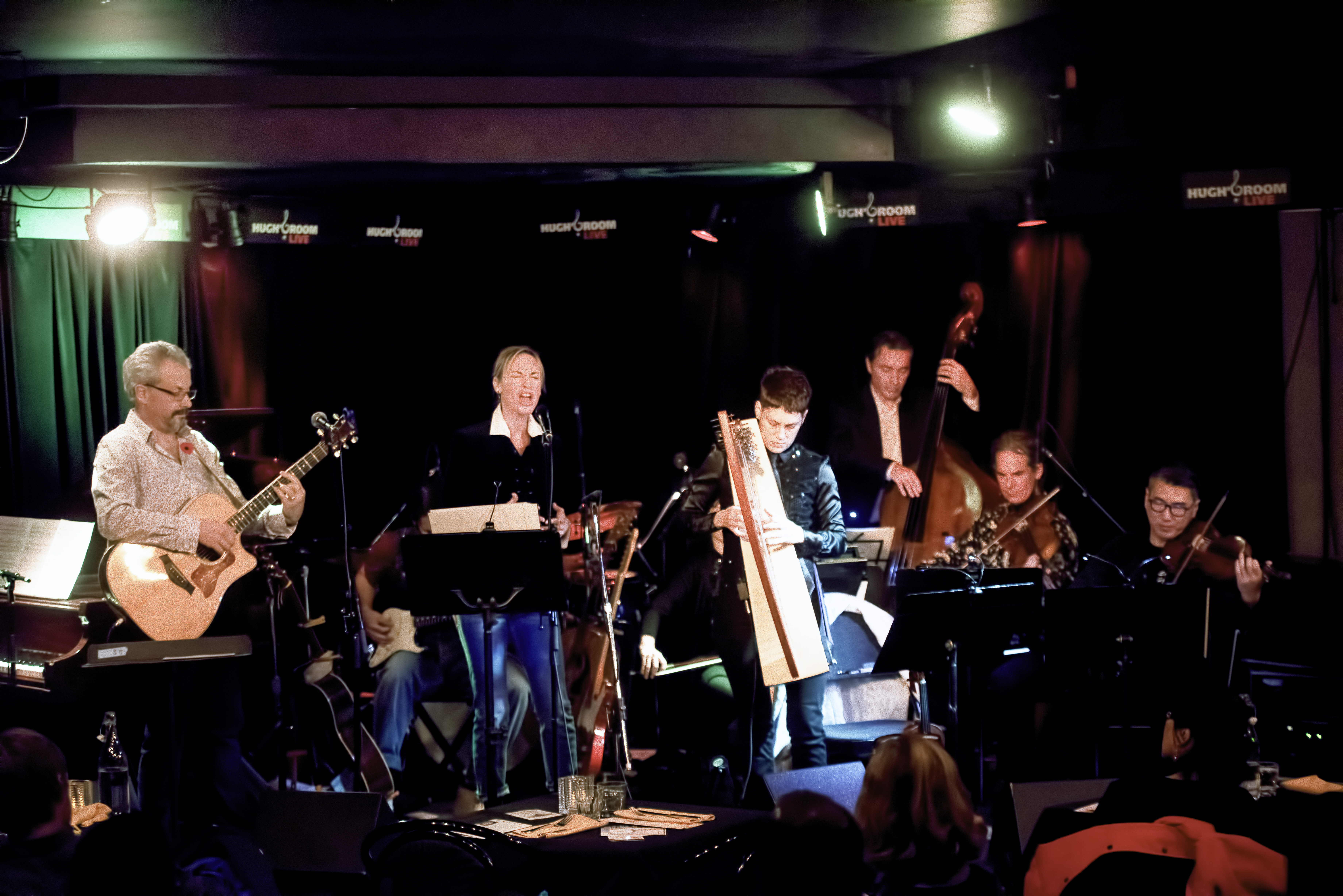Luke Jackson, David Celia, Patricia O'Callaghan, Sahra Featherstone, Maury Lafoy, Johan Lotter and Alex Cheung with Songs of Nick Drake at Hugh's Room in Toronto